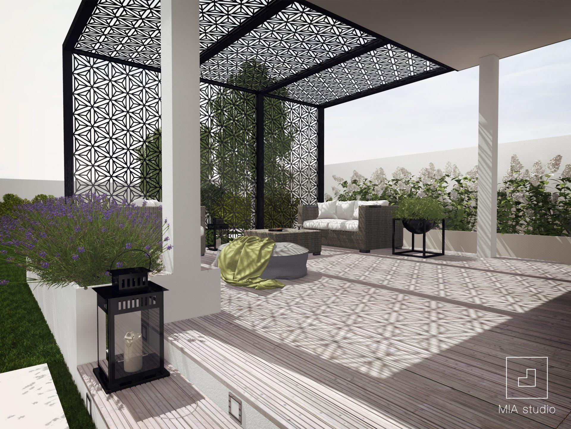 nowoczesna altana ogrodowa